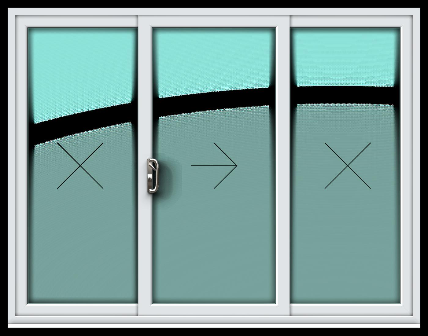 Delicieux 3 Pane Sliding Patio Door U2013 Sides Fixed/Centre Sliding
